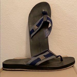 Tommy Hilfiger blue/grey flip flops